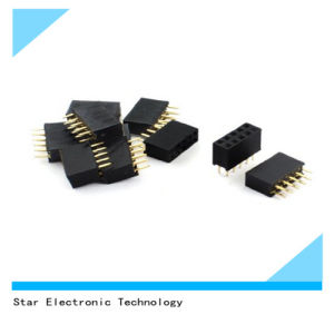 China Factory 2 Pin 3.5mm Double Rows 10pin Female DIP Straight Pin Header Socket pictures & photos