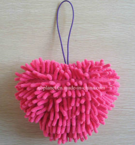 Microfiber Chenille Heart for Hand Wiping & Drying pictures & photos