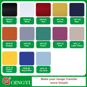 Qingyi Soft Flock Heat Transfer Film for Wears pictures & photos