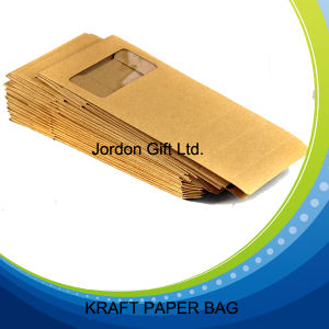 Food Packing Kraft Paper Bag with Window pictures & photos