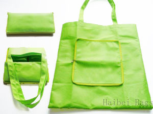Zipper Folding PP Non Woven Carry Bag (HBFB-59) pictures & photos