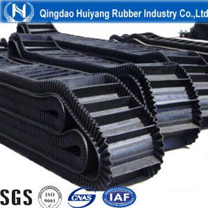 Ep100~Ep400 Sidewall Corrugated Rubber Conveyor Belt pictures & photos