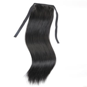 Silky Straight 20 Inches Black Color Kanokalon Synthetic Hair Claw Clip Ponytail Hair Pieces pictures & photos