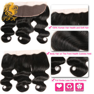 8A Brazilian Lace Frontal Closure Free Part 13X4 Brazilian Virgin Hair Body Wave Lace Frontals Ear to Ear Lace Frontal Closure pictures & photos