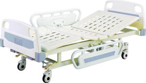 Movable Full-Fowler Two Function Hospital Bed with ABS Board pictures & photos