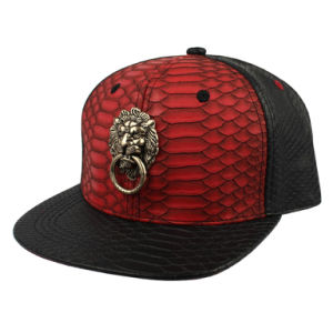 Snakeskin Faux Leather with Metal Cap pictures & photos