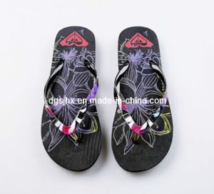 Rubber PE Flip Flops with Film Straps pictures & photos