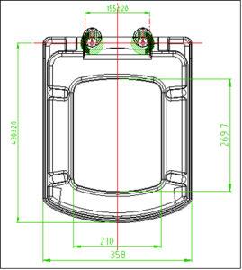 Duroplast Material Bathroom Square Toilet Seat pictures & photos