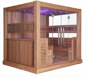 Multi-User Type Luxury 8-10 People Wooden Sauna Room (M-6046) pictures & photos