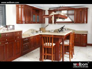 E1 Standard Classic Solid Wood Kitchen Cabinet pictures & photos
