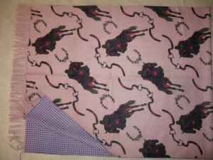 100% Cashmere Double Faced Printed Shawl Horseriding pictures & photos