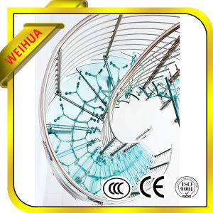 High Quality Clear 10mm Laminated Glass Stair with CE/CCC/ISO9001 pictures & photos