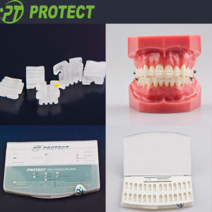 Dental Ceramic Brackets Orthodontic with 345hooks pictures & photos