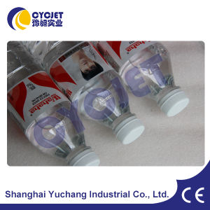 Fly Laser Printer Machine for Marking on Plastic Water Bottle pictures & photos