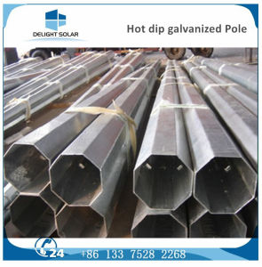 Single Arm Hot-DIP Galvanized Steel Solar Street Lighting Power Pole pictures & photos