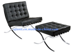 Barcelona Leather Sofa Chair with Ottoman (F66) pictures & photos