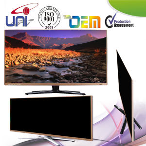 Uni Coffee Color Metal Ultra-Slim Bezel Multipurpose E-LED TV pictures & photos