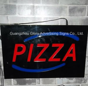 Epoxy Resin LED Open Signs/ Commercial LED Resin Pizza Sign pictures & photos