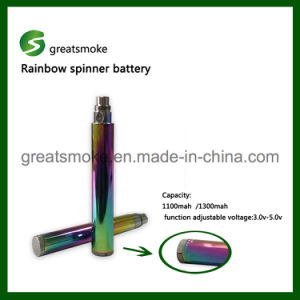 CE and RoHS Certificated EGO Spinner Battery for Electronic Cigarette
