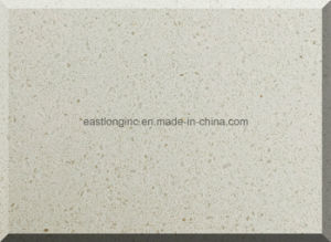 Plain White Artifical Quartz Stone with Au Standard pictures & photos
