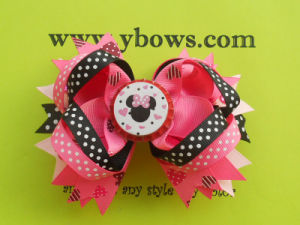 Hair Bow with Bottle Cap