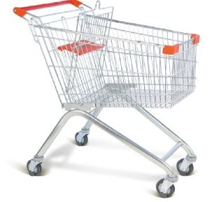 Supermarket Shopping Trolley with 100 Liter pictures & photos