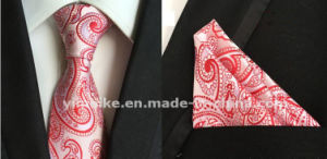 Stylish Polyester Silk Necktie Mens Tie Set with Hanky for Gift pictures & photos