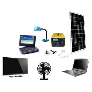 Portable Solar Home System for LED Light Fan and TV