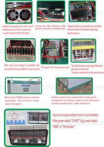 Solar-Wind System 10 Kw 96V 120V 192V DC Input off Grid Inverter pictures & photos