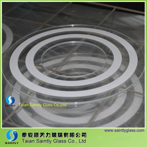3mm Round Tempered Printing Lighting Glass pictures & photos