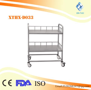 Factory Direct Price ABS Medical Trolley Clinical Therapy Trolley pictures & photos