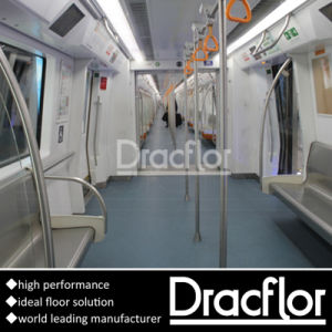 Scratch Resistance PVC Vinyl Tile for Bus (P-7214) pictures & photos