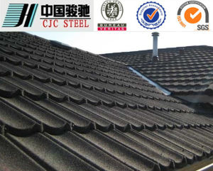 Classic / Wave Aluminum Stone Chip Coated Steel Roof Tiles / Roofing Panel