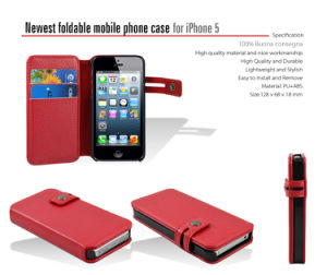 Foldable Mobile Phone Leather Case for iPhone 6 Plus (il-501) pictures & photos