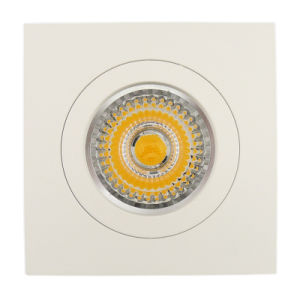 Lathe Aluminum GU10 MR16 Square Recessed Fixed LED Spotlight (LT2117) pictures & photos
