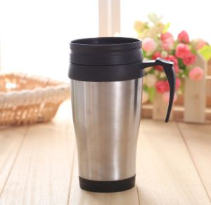 Coffee Travel Mug 16oz Insulateddouble Walled for Hot and Cold - Best Finger Grip Handle pictures & photos