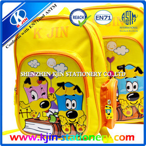 Kjin Stationery Two Layers Cartoon School Bag for Kids