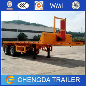 3 Axles 40FT Container Trailer, Hydraulic Flatbed Tipper Container Trailer pictures & photos