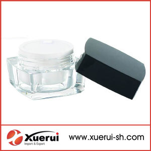 Square Shape Cosmetic Acrylic Empty Cream Jar pictures & photos