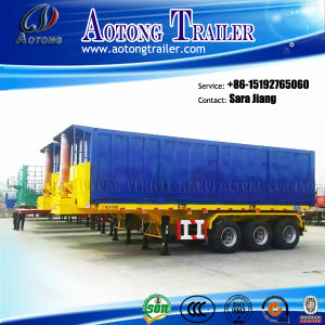 China Manufacturer 3 Axles Flatbed Container Tipper Semi Trailer pictures & photos