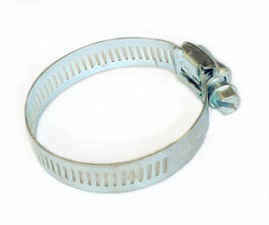 Cheap Price Zinc Plated Steel Perforated Screw Driven Hose Clamp pictures & photos