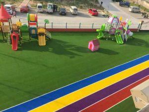 Four Colors PP+PE Artificial Grass Wy-04 pictures & photos