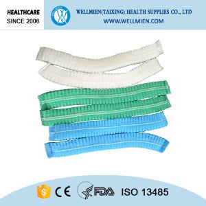 Disposable Nonwoven PP Clip Cap Strip Net Cover pictures & photos