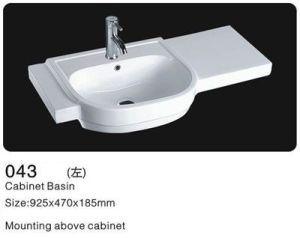 Rectangle Ceramic Cabinet Washbasin, Bathroom Ceramic Cabinet Basin pictures & photos