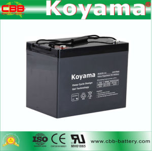 75ah 12V Rechargeable Deep Cycle Gel Battery for Street Lighting pictures & photos
