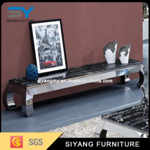 Marble Mirror TV Stand with Drawer pictures & photos