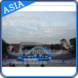 Moving Inflatable Cow Shape Water Park, Inflatable Land Water Park pictures & photos