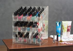 Clear Countertop 3 Tiers Acrylic Nail Polish Display Rack pictures & photos