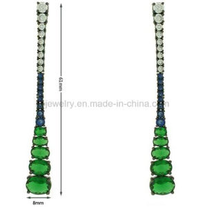 Latest Design Party Wear Jewelry Colorful Gemstone Earrings (KE3221) pictures & photos