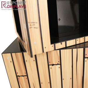 Creative Design Rotating 4 Sided Wood Children Book Stand Display in Book Store pictures & photos
